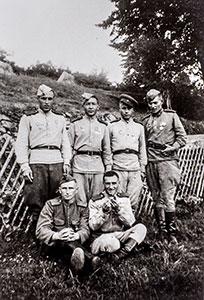 Russische Offiziere in Arbesbach, 1945, Sammlung Leopold Kropfreiter, © Franz Kitzler